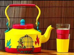 The theme of this kettle is Flying Bird  This is an oriental bird cage illustrating the happiness of being set free. The yellow background indicates the sunny sky. Some birds are not meant to be caged, that's all. Their feathers are too bright, their songs too sweet and wild.   Shop Now :- http://bit.ly/1R4znFV  #handpainted   #handmade   #handcrafted   #homedecor   #homeimprovement   #kettle   #glasses   #flying   #birds