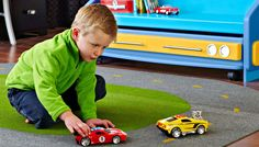 This speedy project gives your kids a racetrack play mat to get their engines going during playtime.