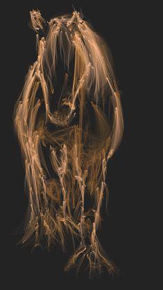 Trying to draw my Irish Cob horse in flowpaper art