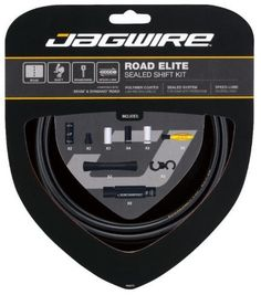 Bike Cables - Jagwire Road Elite Sealed Bicycle Shift Cable Housing Kit * Check this awesome product by going to the link at the image.