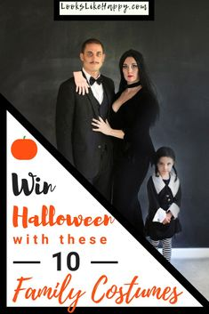 10 Spooktacular Halloween Costume Ideas for Your Family- Looks Like Happy  #halloween #halloweencostumes #familycostumes #couplescostumes #groupcostumes