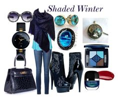 """""""Shaded Winter"""" by prettyyourworld ❤ liked on Polyvore featuring Paige Denim, Vero Moda, Rado, Louis Vuitton, Andara, Christian Dior, Hourglass Cosmetics and Hermès"""