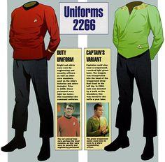 star trek tos first season uniforms - Google Search