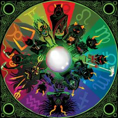 Ancestor Circle by Allison Shabet. <br /> <br />Art print measures 20 wide x 20 high. Printed on mil satin photo paper. Homestuck Karkat, Homestuck Cosplay, Calliope Homestuck, Homestuck Funny, Anime Cosplay, Homestuck Ancestors, Home Stuck, Circle Art, Geek Stuff