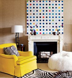Damien Hirst dots painting