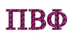 "Pi Beta Phi Mascot Greek Letter Sticker - 2.5"" Tall Tall from GreekGear.com"
