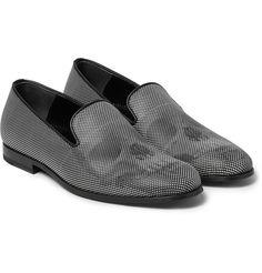 Alexander McQueen - Polka-Dot Leather Loafers Skull