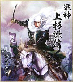Illustrator / Hiroyuki Suwahara. Illust of Uesugi Kenshin ( Japanese Busyou. samurai ).