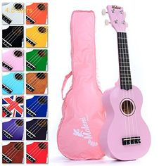 Best Pink Soprano Ukulele with Bag Great Fun for Adult Beginners and Children LOVE Ukuleles (the #1 Music Instrument) with FREE eBook and String Stretching Guide to Get You Enjoying the Uke FAST!