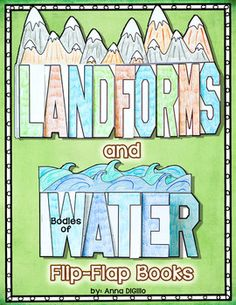 Landforms and Bodies of Water Flip-Flap Books