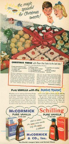 good housekeeping christmas fudge 1950 :o) Retro Recipes, Old Recipes, Fudge Recipes, Vintage Recipes, Candy Recipes, Holiday Recipes, Cooking Recipes, Christmas Recipes, What's Cooking