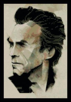 Clint Eastwood Counted Needle Point and by PaulaHowardPatterns Needlepoint Patterns, Cross Stitch Patterns, Easy Stitch, Pattern Pictures, Clint Eastwood, Cover Pages, Digital Pattern, Famous Faces, Some Pictures