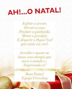 A Equipe Vivreshop deseja a você um Natal repleto de AMOR e PAZ!