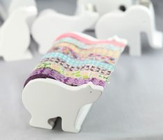 These washi tape dispensers are so cute! The large ones can hold up to 7 rolls of washi tape! Tape Crafts, Diy Crafts, Washi Tape Dispenser, Cute Stationary, Masking Tape, Washi Tapes, Mt Tape, Do It Yourself Home, Craft Storage