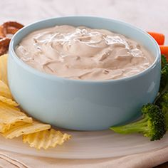 Lipton® Onion Dip: An all-star classic! All you need for this party favorite are two simple ingredients. #oniondip #recipe