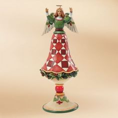 Open Arms Finial Angel Figurine
