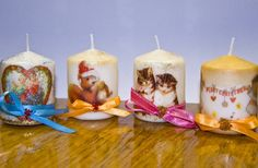 Decoupage candle-024