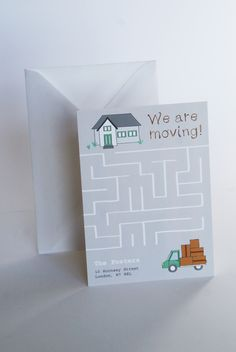 Design: Maze www.homemovingcards.com Order your change of address cards now with HomeMovingCards and get 10%OFF your order! :) PromoCode: move10