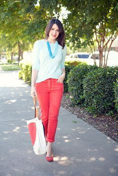 I need red pants! Or green pants, or blue for that matter.