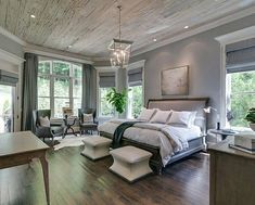 63 Gorgeous Farmhouse Master Bedroom Design Ideas Farmhouse is in, and for good reason. Bring it on your master bedroom design ideas is a great ideas. Farmhouse Master Bedroom, Master Bedroom Design, Dream Bedroom, Home Decor Bedroom, Modern Bedroom, Bedroom Country, Master Bedrooms, Bedroom Furniture, Bedroom Designs