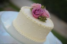Small & simple wedding cake! Photo by Tad Craig Photography