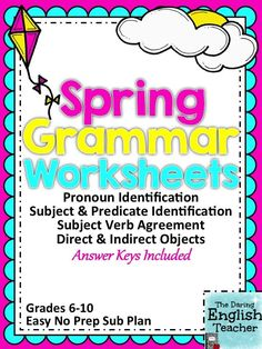 Introduce some fun spring facts with these grammar worksheets.