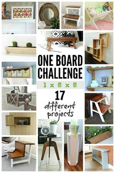 """I took one board...one 1"""" x 8"""" x 8' board and created a faux cubby box with Plenty O' Storage that looks great in any room in your home!"""
