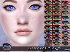Straw Eyes CL by Taty86 at SimsWorkshop • Sims 4 Updates