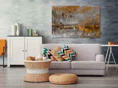 Piękny obraz o nowoczesnym, niebanalnym wzornictwie ubarwi ściany każdego wnętrza. Ty też możesz mieć oryginalne dzieło sztuki najwyższej jakości w swoim domu!  #design #canvas #obraz Throw Pillows, Painting Canvas, Bed, Etsy, Home, Design, Toss Pillows, Cushions, Stream Bed