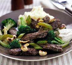 Quick beef & broccoli one-pot recipe - Recipes - BBC Good Food   I would serve this with some steamed wild rice