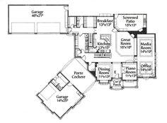 House plans detached garage porte cochere House design plans