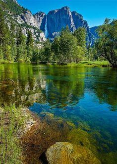 "coiour-my-world: ""Yosemite Falls Reflections by Edward Marcinek """