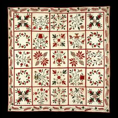 MD Appliquéd Album Quilt, 1840-55