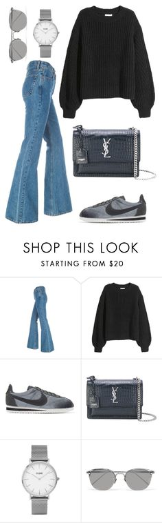 """Untitled #2132"" by kellawear on Polyvore featuring NIKE, Yves Saint Laurent, Topshop and Linda Farrow"