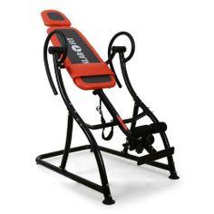 Klarfit Relax Zone Comfort Inversionsbank Rücken Hang-Up Rückentrainer (bis 150 kg, verstellbar, leichte Montage) orange-schwarz von Klarfit
