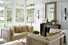 couches that swing on a porch that feels like a living room! what could be better?