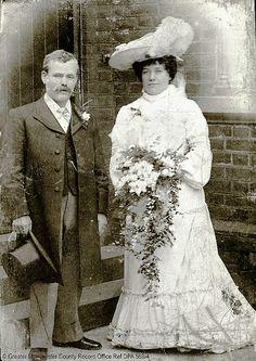 Emma Dean and Mr. Austin Walters on their wedding day, 1905