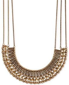 Lucky Brand Silver-Tone Textured Metal Necklace - Jewelry & Watches - Macy's