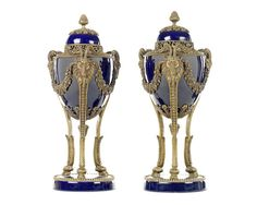 A pair of French early 20th century porcelain and bronze mounted perfume burnersIn the Louis XVI style (2)