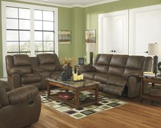The Quarterback Reclining Sofa, Loveseat, and Rocker Recliner Collection is the perfect living room set for your next game watching party! White Living Room Set, Leather Living Room Set, White Furniture, Living Room Furniture, Furniture Sets, Sofa And Loveseat Set, Couch Set, Recliner Chairs, Wayfair Living Room Sets