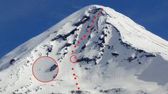 Trip report of ski tour of Lanin Volcano on Chile-Argentina border.