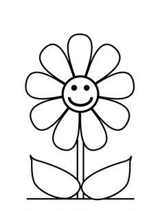 Imagens de flores para colorir e fotos de flores para colorir  flor sorrindo