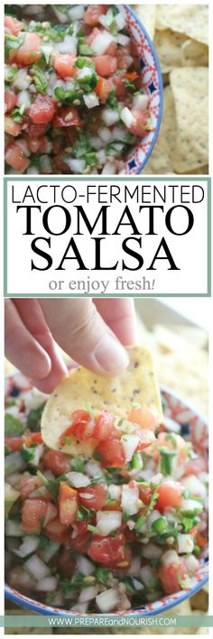 Lacto-Fermented Tomato Salsa - this favorite condiment, can be cultured or fermented for additional nutritional benefits or enjoy it fresh. Paleo, Whole30, GAPS via @preparenourish
