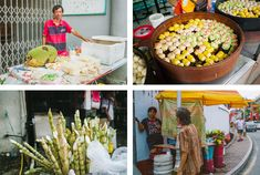 Street food à Malacca, Malaisie