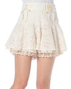 起毛レーススカパン|ボトムス | 渋谷109で人気のガーリーファッション リズリサ公式通販