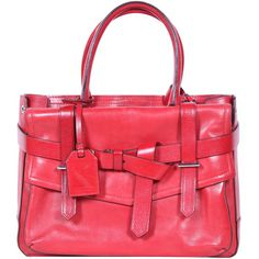 REED KRAKOFF RED LEATHER BOXER TOTE BAG. #reedkrakoff #bags