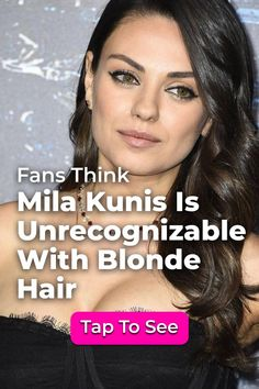 Mila Kunis is one of those people that no matter what she does to change her appearance, she's always going to be drop-dead gorgeous. Her dark hair has been iconic throughout her entire career, but it looks like she's decided to switch it up.
