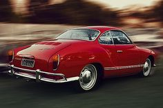 VOLKSWAGEN Karmann Ghia (1955-1976) Favorite car I ever had.  Mine was royal blue.  Called it the Smurf Mobile. : )