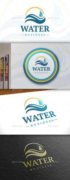 Water - Logo Design Template Vector #logotype Download it here: http://graphicriver.net/item/water-logo/11388880?s_rank=886?ref=nesto
