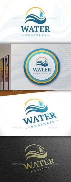 Water - Logo Design Template Vector #logotype Download it here: http://graphicriver.net/item/water-logo/11388880?s_rank=886?ref=nesto
